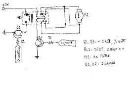 circuitry Double Pole Relay Wiring Diagram the schematic uses a dpdt relay to implement a h bridge for bi directional control of one dc motor double pole double throw relay wiring diagram