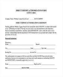 Ach Deposit Authorization Form Template – Poquet