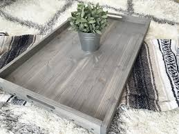 rustic wooden ottoman tray coffee table tray serving tray wooden tray rustic home decor farmhouse decor rustic tray wood tray