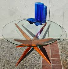 Teak And Glass Coffee Table Danish Teak Spider Leg Coffee Table Round Glass Top Sike Mobler