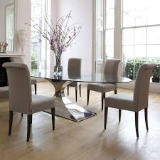 round dining table with upholstered chairs awe inspiring room and unique creative gl decorating ideas 20