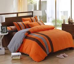 image of orange and blue comforter