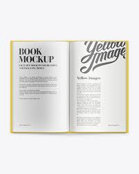 Mockup of the book 21 августа 2020, 01:00. Hardcover Book Mockup In Stationery Mockups On Yellow Images Object Mockups