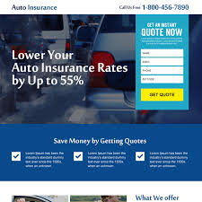 auto insurance instant quote lead gen landing page auto insurance example