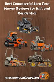 Zero Turn Mower Comparison Chart Best Commercial Zero Turn Mower Reviews For Hills And