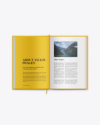 If you're looking for a photorealistic display of your notebook design, then this is the. Hardcover Novel Book Mockup In Stationery Mockups On Yellow Images Object Mockups
