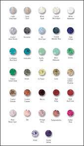 Swarovski Crystal Color Charts