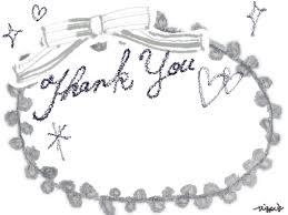 Thank Youの手描き文字とリボンのフレーム640480pix Webデザイン