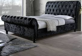 Crushed Black Velvet. Birlea Furniture   Bordeaux Bed ...