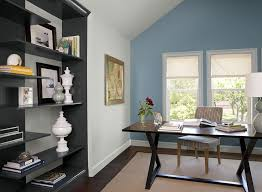 wall color for office. Calm \u0026 Cozy Home Office! Walls Trim Color: Constellation - Accent Wall Color For Office