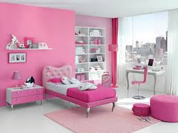 Pink Girls Bedroom Furniture Awesome White Pink Wood Glass Cool Design Wall Paintings For