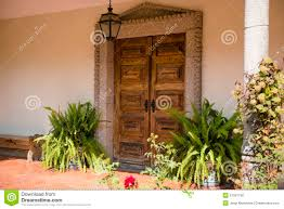 Front Door With Decorative Plants Stock Photo - Image: 27057796