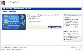 activate rbc credit card process