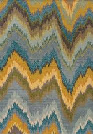 yellow transitional synthetics stripes lines chevron area rug