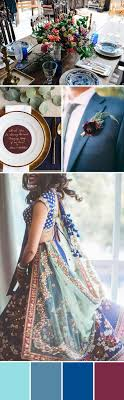 Dusty blue pink gold classic wedding ideas Rose Gold Blue Wedding Palette Elle Decor Wedding Colors 10 Fresh Hip Combos Practical Wedding