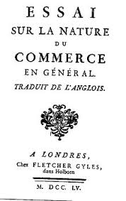 essay on the nature of trade in general  cover of essai sur la nature du commerce en general by richard cantillon