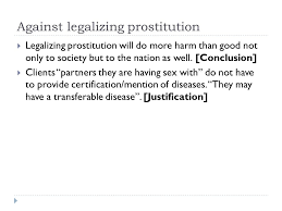 logic argument inductive and deductive reasoning fallacious  against legalizing prostitution