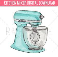 kitchen mixer clipart. Plain Kitchen Kitchen Mixer Watercolor Illustration Digital Download Clip Transparent Intended Clipart N