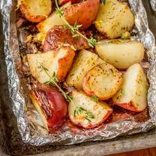 easy grilled potatoes in foil packets