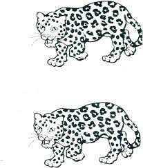 Leopard Coloring Pages Easy Leopard Coloring Page Coloring Pages For