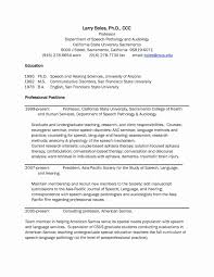 Speech Therapy Resume Updated Occupational Therapy Resume Unique