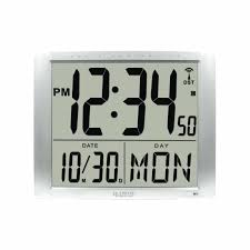 atomic digital clocks jumbo digits atomic wall clock westclox atomic digital alarm clock review