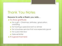Thank You Notes Reasons To Write A Thank You Note… To Show Gratitude ...