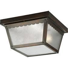 progress lighting 2 light antique bronze outdoor flushmount