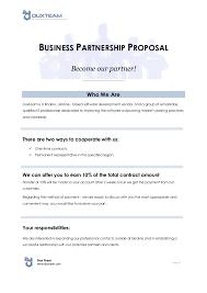 Partnership Proposal Samples 10 Business Partnership Proposal Examples Pdf Word