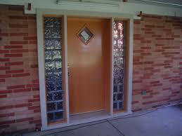 bournes fiberglass entry door with glass block sidelights 6911 028 1