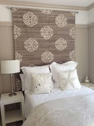 Headboard Alternative Ideas H Headboard Idea Rug Tapestry Or Heavy Fabric Would Help With