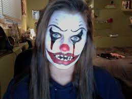 scary clown makeup easy to do