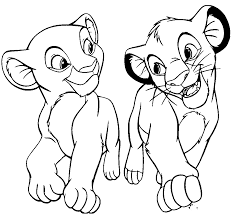 Simba And Nala Coloring Pages For