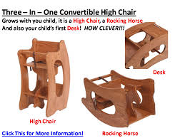 leave it to the amish to come up with a high chair that converts to a