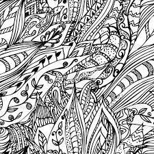 Abstract Doodle Art Coloring Pages Gomitolo