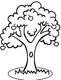 Small Picture Girl And Apple Tree Coloring Page For Kids Fruits Coloring Pages
