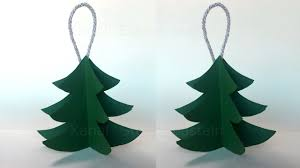 3d Paper Christmas Tree Christmas Crafts Diy Christmas Decorations