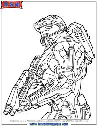 Small Picture Halo 4 Master Chief Coloring Page Free Printable Coloring Pages