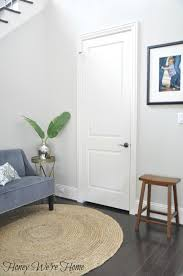 black gray painted interior doors