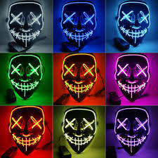 <b>LED Costume Masks</b> for sale | Shop with Afterpay | eBay