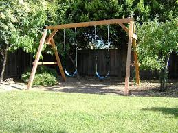 Build Your Own Wood Swing Set
