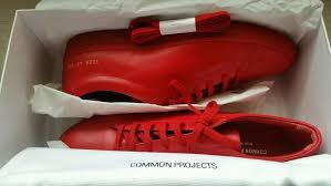 Common Projects Shoe Size Chart Common Projects Achilles Low Red Leather Sneakers Size 43