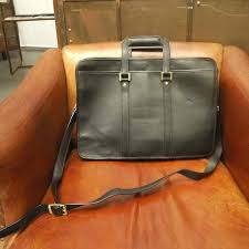skarn shika vintage bag bally classic black leather briefcase a3 119 designer modern times i