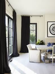 Perfect Black And White Curtains In Interior Inside Design Inspiration