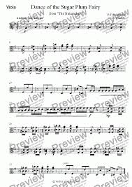 dance of the sugar plum fairy sheet music viola part from dance of the sugar plum fairy sheet music