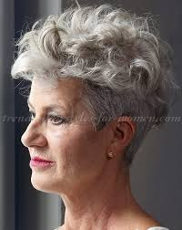 short curly hairstyle for silver hair