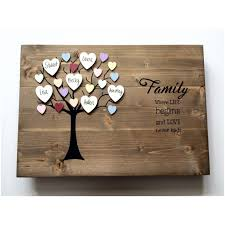 personalized family tree wooden wall art