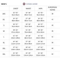 Canada Goose Fusion Fit Size Chart