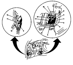 1999 cadillac a fuse diagram fuse block engine compartment relay 1 relay box