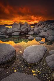 Polychromatic, Pollen floating on Lake Tahoe during sunset, by Dustin  Montgomery.... | Lake sunset, Amazing sunsets, Fine art landscape  photography